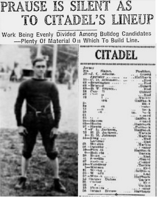 1928 Jackets In College Football Archives, 1928 Jackets In College Runt Gray, Citadel (SC), Leesburg High School, Leesburg Florida