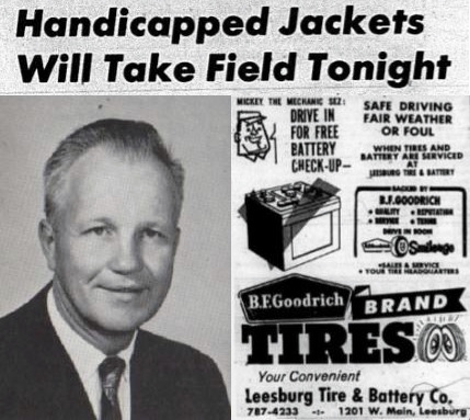 '63 Varsity Football Team Head Coach Melvin Whitey Smith, Handicapped Jackets Will Take Field Tonight, Friday, November 8, 1963, Carver Heights Quarterback Club, Leesburg High School, Leesburg, Florida
