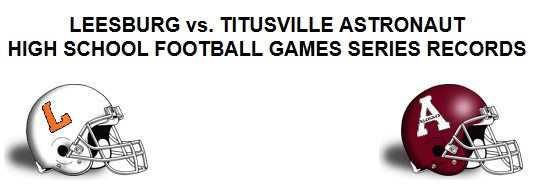 LEESBURG vs. TITUSVILLE ASTRONAUT FOOTBALL GAMES SERIES RECORD, Leesburg High School, 1401 Yellow Jacket Way, Leesburg, Florida 34748, Gerald Lacey, Staff Writer, Carver Heights Quarterback Club