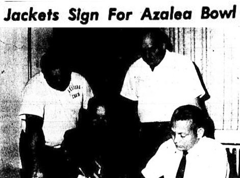 Azalea Bowl Signing, Tuesday, December 1, 1970, Leesburg High School, Leesburg, Florida.