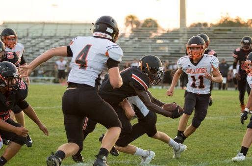 Umatilla at Leesburg spring football game at Leesburg High School on Tuesday, May 16, 2017. [Photo courtesy of Ashley Beyer, Freelance Photographer], Carver Heights Quarterback Club, Leesburg High School, Leesburg, Florida