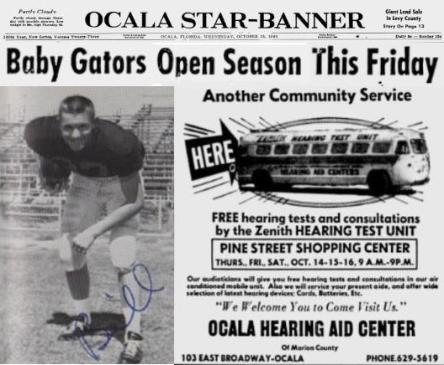 1965 Jackets In College Football Archives, Bill McBride, University of Florida, Baby Gators Open Season This Friday, Wednesday, October 13, 1965, Carver Heights Quarterback Club, Leesburg High School, Leesburg, Florida