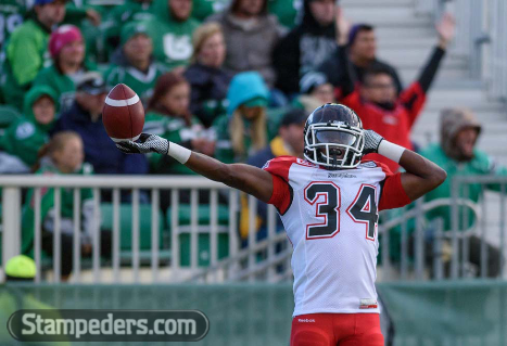 2015 Jackets In The Pros Archives, Tory Harrison, Calgary Stampeders, Calgary Stampeders vs. Saskatchewan Roughriders, Saturday, August 23, 2015 (Photo courtesy CP Images/Derek Mortensen) Carver Heights Quarterback Club, Leesburg High School, Leesburg, Florida