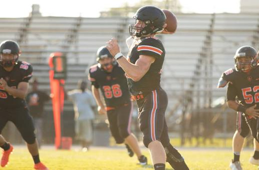 2017 Leesburg High School Yellow Jackets Football Archives, 2018 University of Virginia commit quarterback Wyatt Rector, (Photo courtesy Ashley Beyer, Freelance Photographer), Carver Heights Quarterback Club, Leesburg High School, Leesburg, Florida