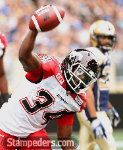 Jackets In The Pros Archives (34) Tory Harrison, Calgary Stampeders, Calgary Stampeders vs. Winnipeg Blue Bombers, Saturday, August 30, 2015 (Photo courtesy of CP Images/John Woods) Carver Heights Quarterback Club, Leesburg High School, Leesburg, Florida