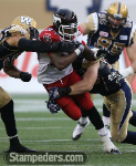 Jackets In The Pros Archives (34) Tory Harrison, Calgary Stampeders, Calgary Stampeders vs. Winnipeg Blue Bombers, Saturday, August 30, 2015 (Photo courtesy of David Moll) Carver Heights Quarterback Club, Leesburg High School, Leesburg, Florida