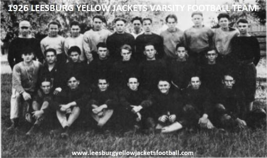 1926 Leesburg Yellow Jackets Football Archives, 1926 Varsity Football Team Schedule, Carver Heights Quarterback Club, Leesburg High School, Leesburg, Florida