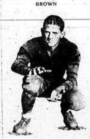 1927 Leesburg Yellow Jackets Varsity Football Team Member Gopher Brown, Leesburg High School, Leesburg Florida