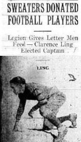 1927 Leesburg Yellow Jackets Varsity Football Team Archives, Sweaters Donated Football PlayerLegion Gives Letter Men Feed - Clarence Ling Elected Captain, Leesburg High School, Leesburg Florida
