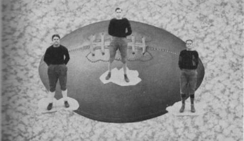 1928 Leesburg Yellow Jackets Varsity Football Team Members, Harry McInnes, Hampy Paulling and Arthur Polk, Leesburg High School, Leesburg, Florida