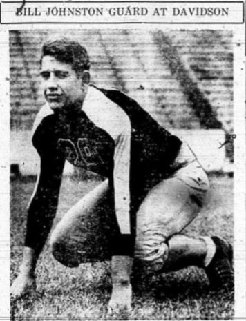 1937 Jackets In College Football Archives, Bill Johnston Davidson College, Bill Johnston Guard At Davidson College, Friday, October 8, 1937, Leesburg High School, Leesburg, Florida.
