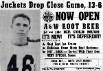 1952 Leesburg Yellow Jackets Football Archives, Leesburg Fullback Dave MorrisLeesburg vs Winter Garden Lakeview, Jackets Drop Close Game, 13-6, Thursday, October 23, 1952, Leesburg High School, Leesburg, Florida.