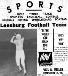 1953 Leesburg Yellow Jackets Football Archives, Varsity Football Billy McLean, Leesburg High School, Leesburg, Florida