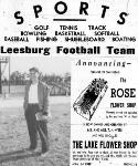 1953 Leesburg Yellow Jackets Football Archives, Varsity Football Head Coach Ed Stack, Leesburg High School, Leesburg, Florida