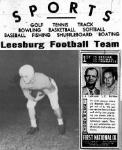 1953 Leesburg Yellow Jackets Football Archives, Varsity Football Team Member Jack Woodard, Wednesday, October 21, 1953, Leesburg High School, Leesburg, Florida