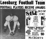 1953 Leesburg Yellow Jackets Football Archives, Varsity Football Hugh Glenn, Leesburg High School, Leesburg, Florida