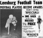 1953 Leesburg Yellow Jackets Football Archives, Ken Regnvall, Football Players Receive Awards, Tuesday, March 24, 1953, Leesburg High School, Leesburg, Florida