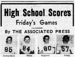 1953 Leesburg Yellow Jackets Football Archives, High School Scores, Friday's Game, By The Associated Press, Leesburg High School, Leesburg, Florida
