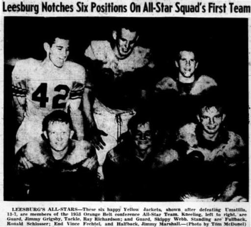 1953 All-Orange Belt Conference First Team Players