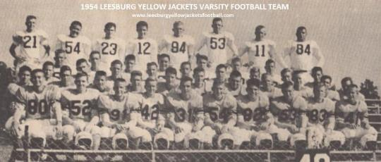 Tommy Milam 1954 Leesburg High School Varsity Football Roster, Leesburg High School, 1401 Yellow Jacket Way, Leesburg, Florida 34748, Gerald Lacey, Staff Writer, Carver Heights Quarterback Club