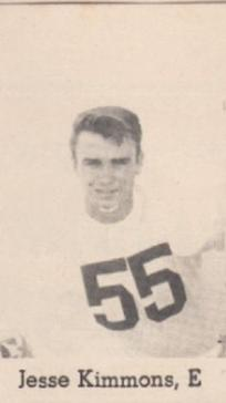 Jesse Kimmons 1954 Leesburg Yellow Jackets Varsity Football Team, Leesburg High School, 1401 Yellow Jacket Way, Leesburg, Florida 34748, Gerald Lacey, Staff Writer, Carver Heights Quarterback Club