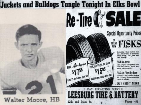 1954 Leesburg Yellow Jackets Football Archives1954 Varsity Football TeamJackets And Bulldogs Tangle Tonight In Elks Bowl, Monday, December 3, 1954, Leesburg High School, Leesburg, Florida