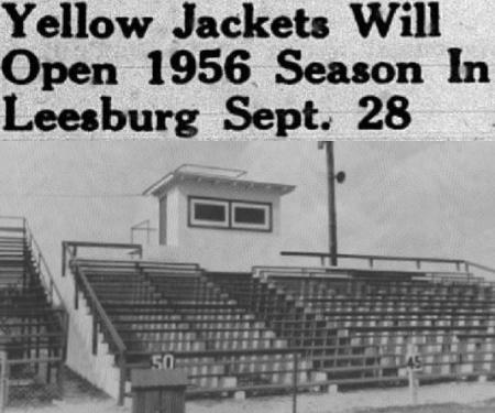 1956 Leesburg Yellow Jackets Football Archives, Leesburg Memorial Field, Leesburg High School, Leesburg Florida