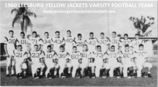 Randy Brown 1960 Leesburg Yellow Jackets Varsity Football Team, Leesburg High School, 1401 Yellow Jacket Way, Leesburg, Florida 34748, Gerald Lacey, Staff Writer, Carver Heights Quarterback Club