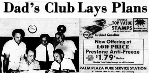 2014 Leesburg Yellow Jackets Football Archives, Dad's Club Lays Plans, Tuesday, August 31, 1965, Carver Heights Quarterback Club, Leesburg High School, Leesburg, Florida