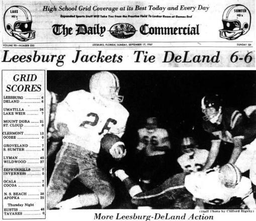 1967 Leesburg Yellow Jackets Football Archives, Carver Heights Quarterback Club, Leesburg High School, Leesburg, Florida