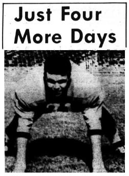 1968 Leesburg Yellow Jackets Football Archives, '68 Varsity Jackets Football Team Member Wade WelshLeesburg vs. Eustis, Just Four More Days, Monday, November 4, 1968, Carver Heights Quarterback Club, Leesburg High School, Leesburg, Florida