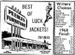 1969 Leesburg Yellow Jackets Football Archives, 1969 Jackets Supporter Pebbles Furniture, Leesburg High School, 1401 Yellow Jacket Way, Leesburg, Florida 34748, Gerald Lacey, Staff Writer, Carver Heights Quarterback Club