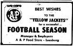 1969 Leesburg Yellow Jackets Football Archives, 1969 Jackets Supporter A & P Food Store,  Leesburg High School, 1401 Yellow Jacket Way, Leesburg, Florida 34748, Gerald Lacey, Staff Writer, Carver Heights Quarterback Club