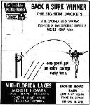 1969 Leesburg Yellow Jackets Football Archives, 1969 Jackets Supporter, Mid-Florida Lakes Mobile Homes Ad, Leesburg High School, 1401 Yellow Jacket Way, Leesburg, Florida 34748, Gerald Lacey, Staff Writer, Carver Heights Quarterback Club
