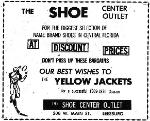 1969 Leesburg Yellow Jackets Football Archives 1969 Jackets Supporter The Shoe Center Outlet Ad, Leesburg High School, 1401 Yellow Jacket Way, Leesburg, Florida 34748, Gerald Lacey, Staff Writer, Carver Heights Quarterback Club