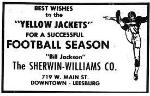 1969 Leesburg Yellow Jackets Football Archives Best Wishes to the