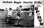 1969 Leesburg Yellow Jackets Varsity Football Team Archives, TIRING? - It's probably as tiring as hitting your man or running for that winning touchdown, but agility drills help the Jackets get ready. Staff Photo, Daily Commercial.Leesburg High School, Leesburg Florida.