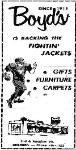 1969 Leesburg Yellow Jackets Football Archives, Since 1915 Boyd's Is Backing The Fightin' Jackets1969 Jackets Supporter Boyd's, 2nd & Meadow Sts, Leesburg High School, 1401 Yellow Jacket Way, Leesburg, Florida 34748, Gerald Lacey, Staff Writer, Carver Heights Quarterback Club