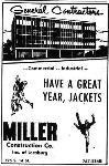 1969 Leesburg Yellow Jackets Football Archives, 1969 Jackets Supporter Miller Construction Co. Inc. Of Leesburg 725 S. 14 Street, Leesburg Florida