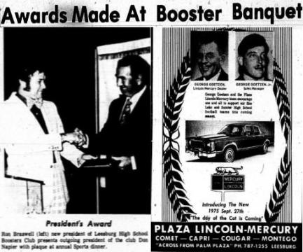 Awards Made At Booster Banquet, Page 4, Wednesday, May 8, 1974