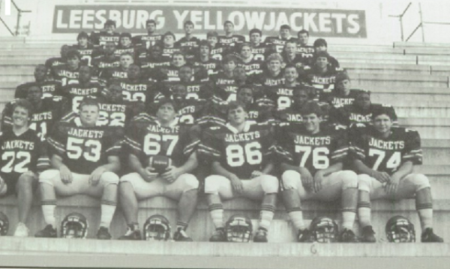 1987  Leesburg Yellow Jackets Football Team Roster