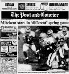 1992 Jackets In College Football Archives, #42 Undra Mitchem Sr., The Citadel (SC)Mitchem Stars In 'Different' Spring Game, Sunday, March 15, 1992, The Post And Courier, Carver Heights Quarterback Club, Leesburg High School, Leesburg, Florida