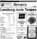 Leesburg vs Tavares, Game Box Score, Saturday, October 28, 2000.Carver Heights Quarterback Club, Leesburg High School, Leesburg, Florida.
