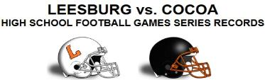 LEESBURG vs. COCOA FOOTBALL GAMES SERIES RECORDS, Leesburg High School, 1401 Yellow Jacket Way, Leesburg, Florida 34748, LEESBURG HIGH SCHOOL, 1401 YELLOW JACKET WAY, LEESBURG, FLORIDA 34748, Gerald Lacey, Staff Writer, Carver Heights Quarterback Club