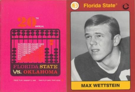 1965 Jackets In College Football Archives, Max Wettstein, Florida State University, Leesburg High School, Leesburg Florida