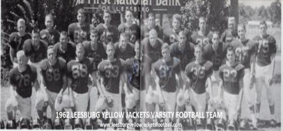 1962 Leesburg Yellow Jackets Varsity Football Games Results, Leesburg High School, 1401 Yellow Jacket Way, Leesburg, Florida 34748, Gerald Lacey, Staff Writer, Carver Heights Quarterback Club